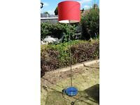Red ikea standing lamp