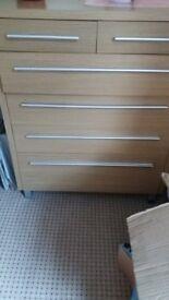 Oak look drawers