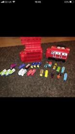 Chugging on carry cases with die cast trains