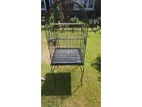 Parrot cage on wheels