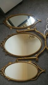 Vintage Trio of Mirrors for Dressing Table. Lovely condition