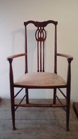 Arts and Crafts Oak Occasional Chair