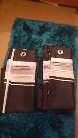 Cream and black and white curtains ex con 88buy88