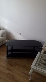 Glass tv 3 tier stand