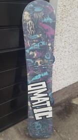 Omatic Awesome Snowboard 155cm and burton mission bindings M