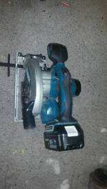 Makita Rip Saw 18v LXT with One Battery