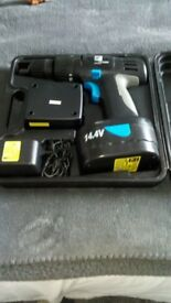 Cordless 14V Drill with Bits In Sturdy Hand Case