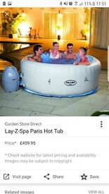 lay-z-spa hot tub led lights with entertainment system.