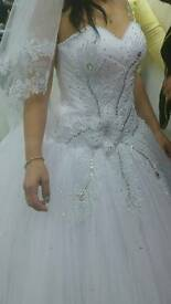 The most amazing wedding dress ever -comes with free veil