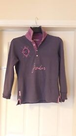 Joules Navy and Purple Rugby Shirt
