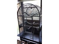 Large indoor bird cage on wheels