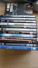 12 varied 15 age rated DVDS