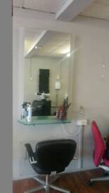Salon mirror and station