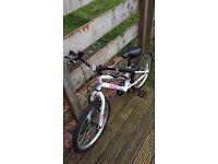 """Girls White Apollo Bike 20"""""""