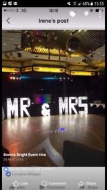 Mr & mrs big LED white light up letters hire £100 all day stunning ❤️