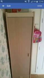 Space saving narrow wardrobe hallway storage