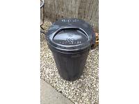 Black Plastic Kitchen & Garden Rubbish Outdoor Waste Bin