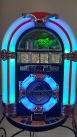 Steepletone USB MP3 CD Rock Mini LED Jukebox Home Audio Music System