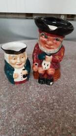 pair of Staffordshire Toby jugs