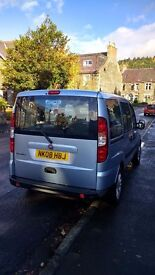 2008 Fiat Doblo, Wheelchair accessible. Good condition. Only 2 owners. FSH. MOT exp. sept 2017.