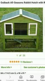 Brand new weatherproof rabbit hutch