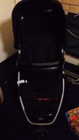 Babystart black pushchair