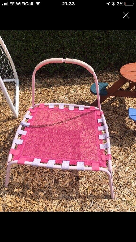 Kids mini trampoline pink