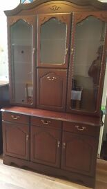 So beautiful display unit and side cabinet in mint condition