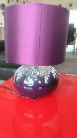 Beautiful purple table lamp
