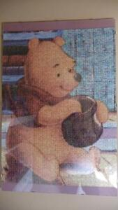 Variety of Winni the Pooh and Friends Photomosaic Framed Puzzles Strathcona County Edmonton Area image 1