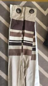 Beige/light Brown curtains