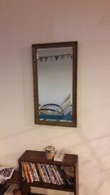 Gilt framed medium sized mirror