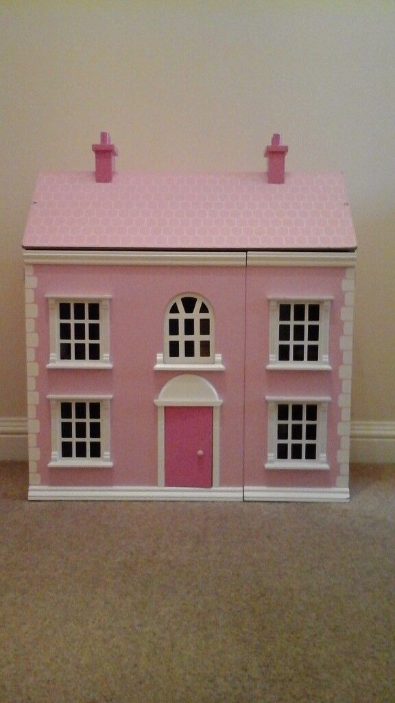 Chad Valley Wooden Dolls House with furniture