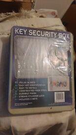 STEEL WALL MOUNTABLE 54 HOOK KEY CABINET CASE LOCKABLE SECURITY BOX SAFE