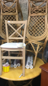 Cane dining table 4 chairs good condition £60
