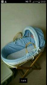 Moses basket, stand and covers