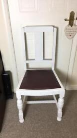 4x dining chairs £15 each shabby chkc
