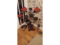 Electronic drum kit.