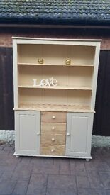 shabby chic pine sideboard/dresser /display unit with drawers