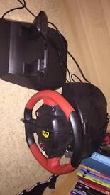 Thrustmaster Ferrari Xbox one steering wheel and pedals