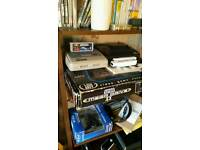 Super Nintendo 7 games leads and controller