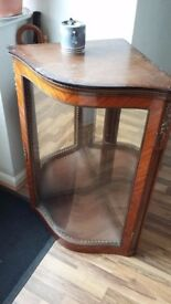 Glass fronted cupboard