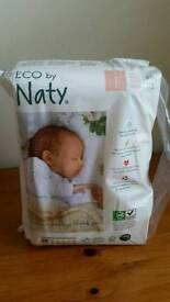 4 x packets of Naty eco size 1 nappies
