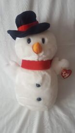 Snowball the Snowman - ty Beanie Buddy Collectible