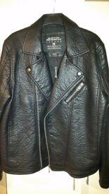 Brand New Burton Menswear Coat (Large) Faux Leather