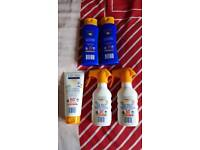 Sealed Aldi children's sun cream sun lotiin factor 50+ and 30