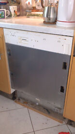 Integrated Whirlpool Dishwasher for spares