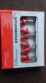 Rothenberger 4 piece plier set.