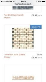 Tiles - natural stone mosaic - cream