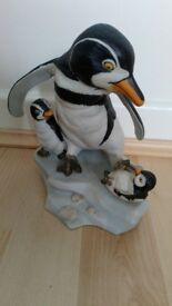 "Hand Painted Porcelain Penguin ""Wow"""
